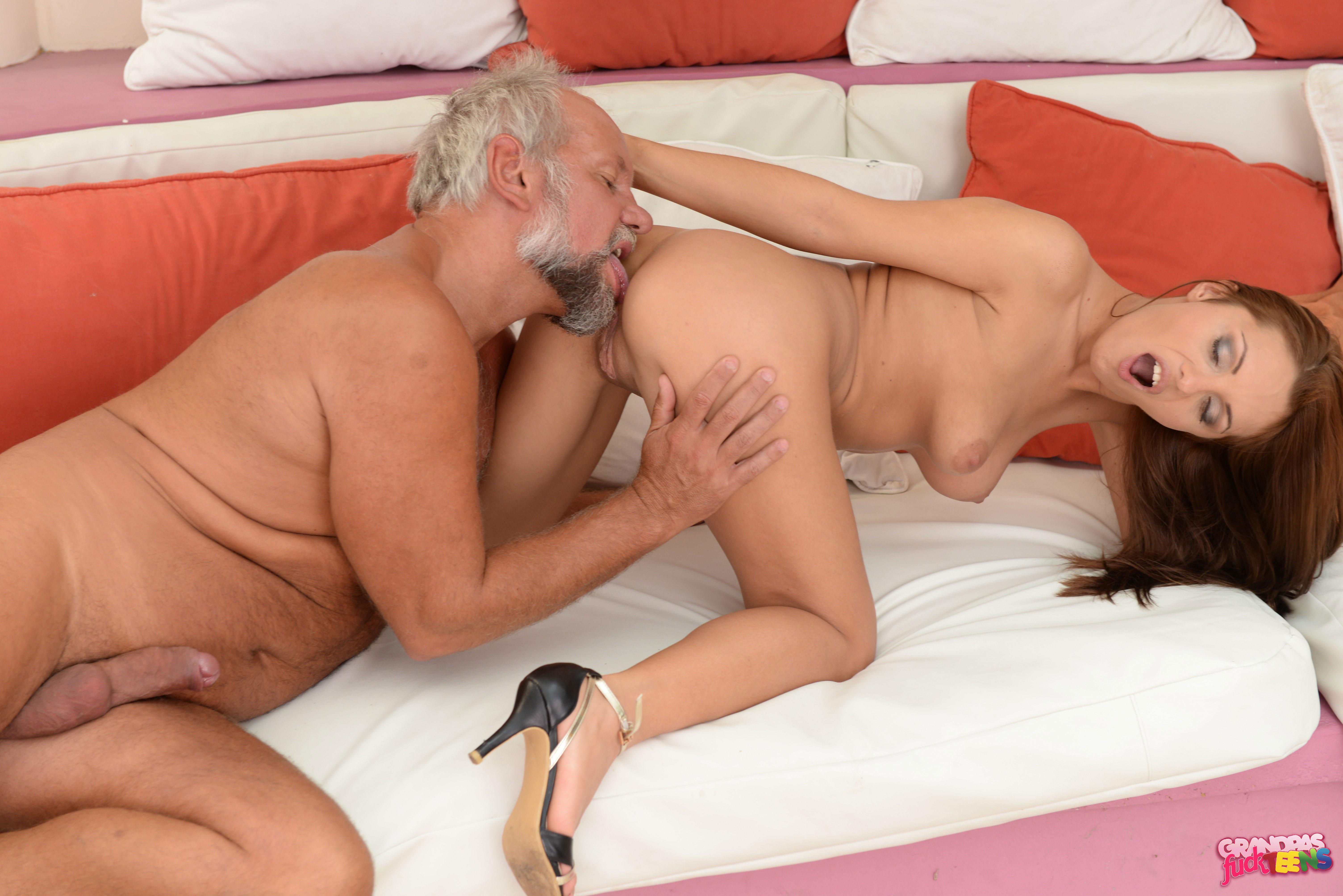 Grandpa gets fucked by sexy nurse 1