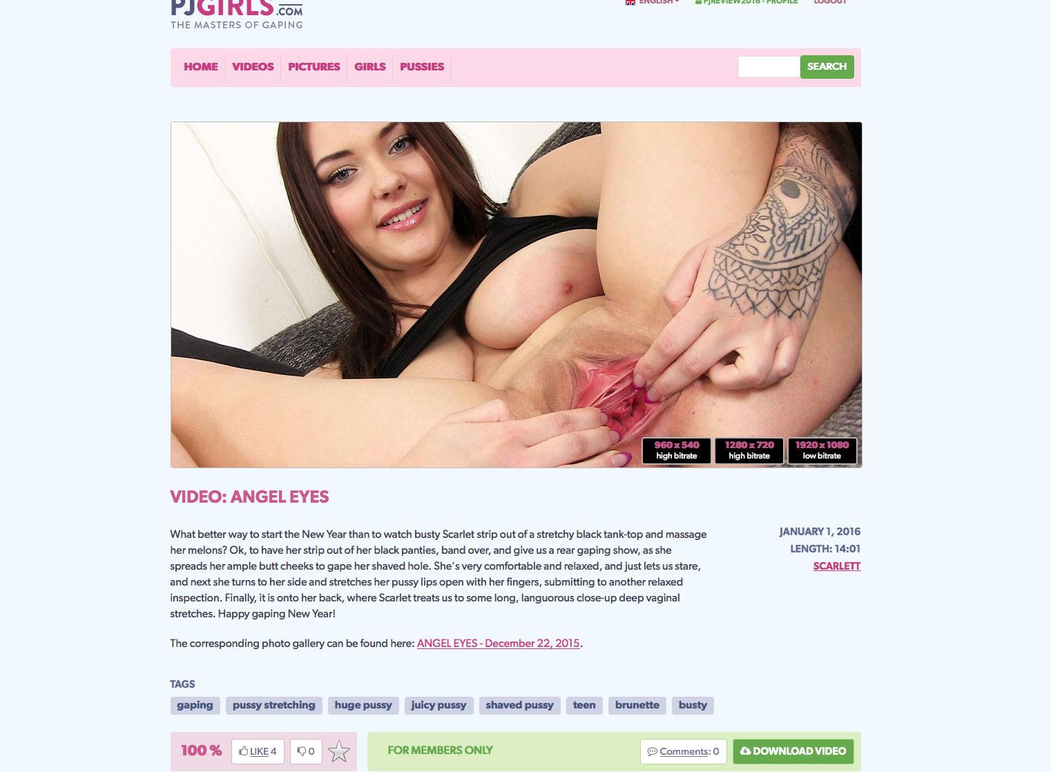 PJ Girls pussy